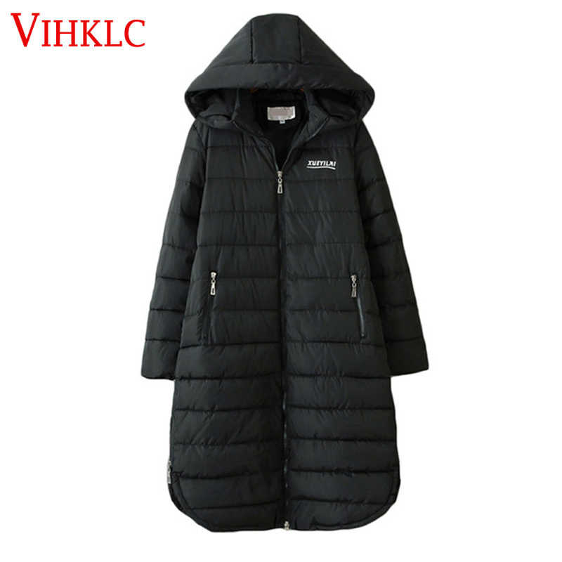 Oversized Women Autumn Winter Long Hooded Parka Coat Woman 3XL-6XL Plus Size Cotton Padded Jacket Female Loose Coats  B21