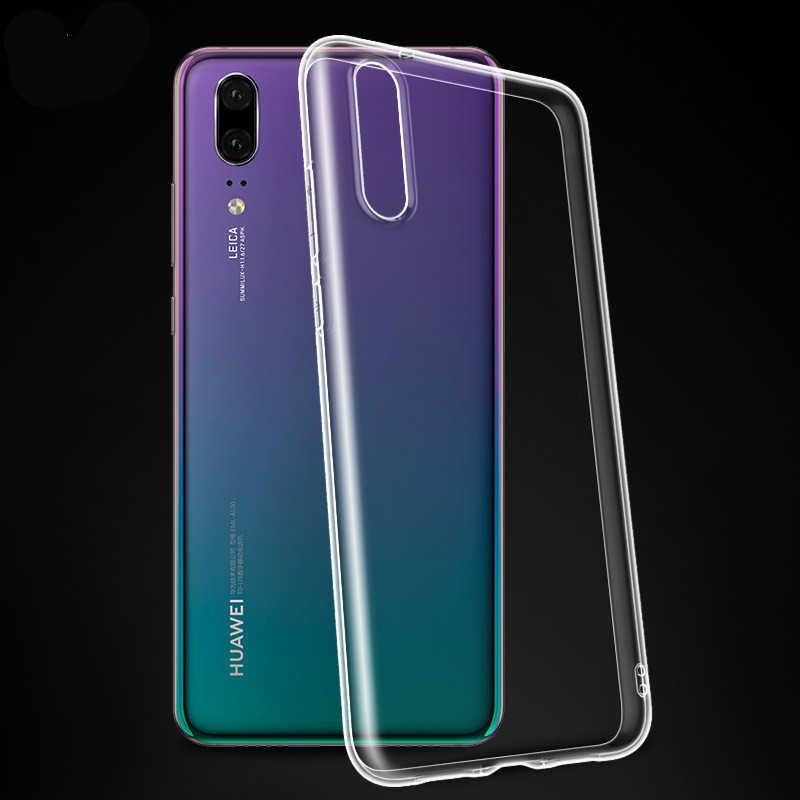 Tpu Soft Case para Huawei P 2019 Inteligente Casos Tampa Transparente Para Huawei Y5 Y6 Prime 2018 P10 P20 Lite p8 P9 Lite 2017 Honra 7C NOVA3