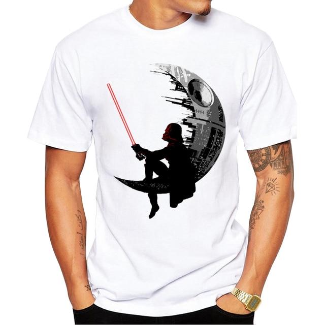 2018 Mới Thời Trang Darthworks Thiết Kế Men T-Shirt Ngắn Tay Áo Hipster Star Wars Tops Các Darth Vua Printed t shirts Mát tee