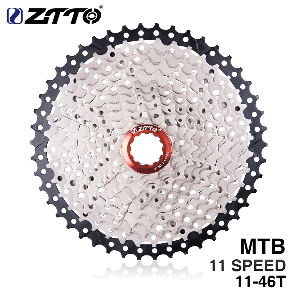 цена ZTTO 11s Cassette 11-46T Freewheel MTB Mountain Bike Bicycle Parts 11speed 11v Flywheel for parts M9000 XT SLX R gx x1 xo