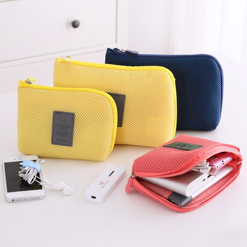 Дорожные аксессуары пакет многофункциональный цифровой гаджет устройств USB кабель наушников ручка Travel Портативный цифровой органайзер Bag