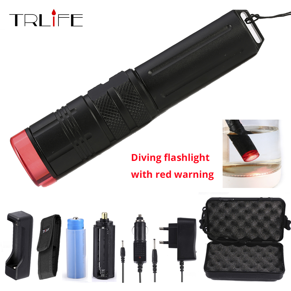 Underwater 100M LED Flashlight for Diving red Warning Flashlights Dive LED Beacon Beam Safety Signal Light Lamp Diving Torch foot operated 5 way 2 position direct acting pneumatic pedal valve