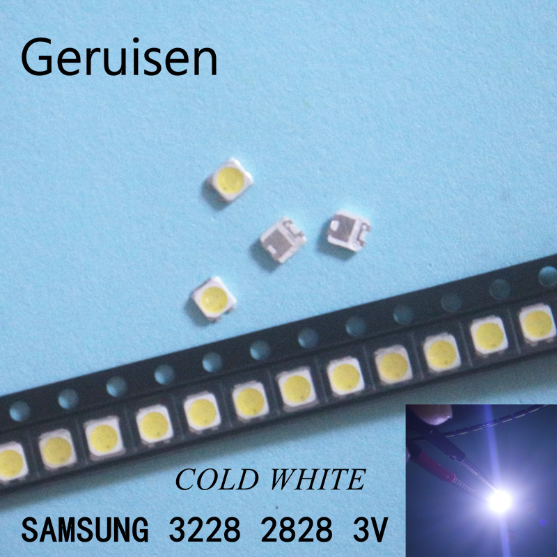 Diodes 50pcs 2828 Led Backlight Tt321a 1.5w-3w With Zener 3v 3228 2828 Cool White Lcd Backlight For Tv Tv Application Sm