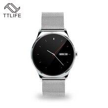 TTLIFE Marke Einfache Stil Männer Smartwatches Edelstahl Lederband Armee Militär Sport Smart Uhr Männer Luxusmarke