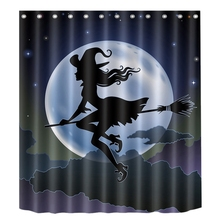 цены Halloween Witch Shower Curtain Bathroom Waterproof Shower Curtain Printing Curtains for Bathroom Shower
