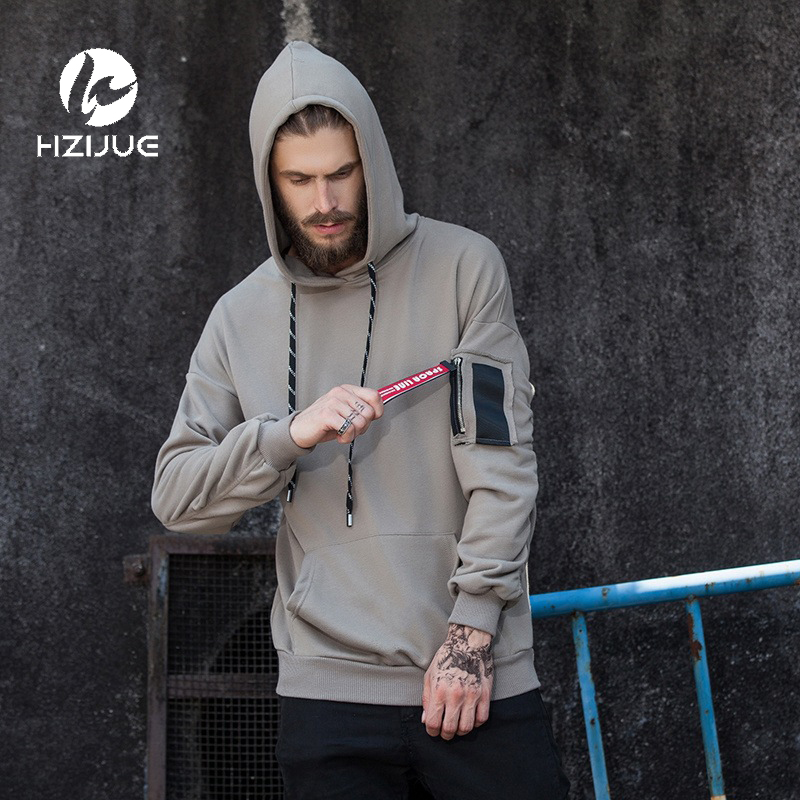 HZIJUE 2017 Brand New Fashion Men Sportswear Print Men Hoodies Pullover Hip Hop Mens tracksuit Sweatshirts Clothing