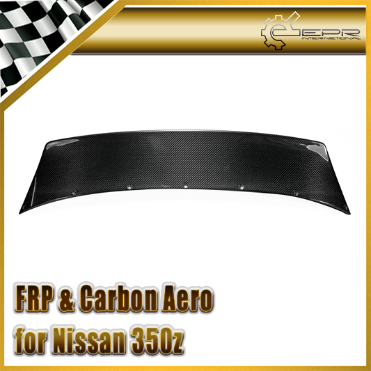 Car-styling For Nissan 350z Carbon Fiber RB Style Rear Boot Trunk Wing Auto Accessories Glossy Fibre Racing Spoiler Body Kit car styling for honda civic fd 2006 carbon fiber steering wheel cover glossy fibre interior bearing circle racing auto body kit