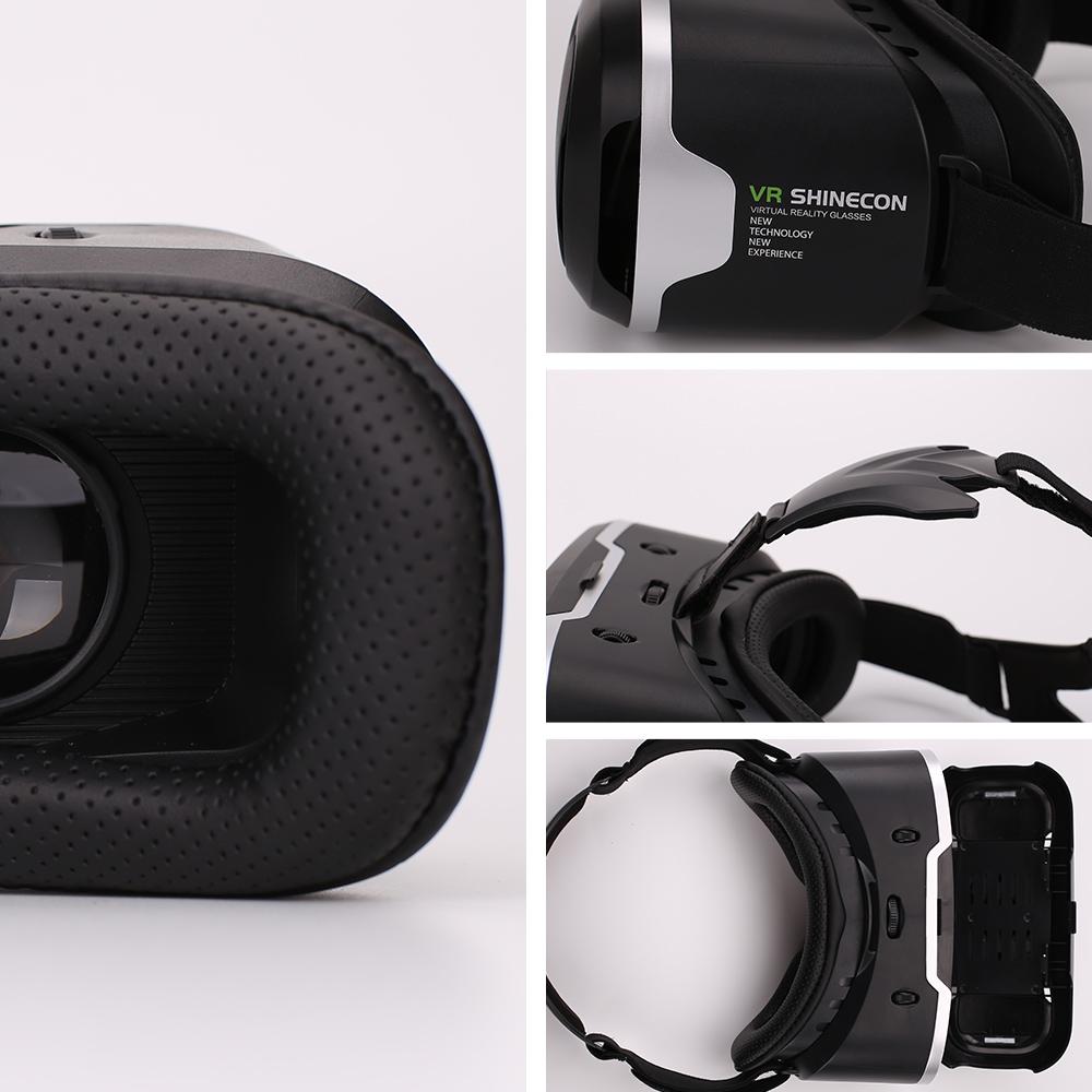 Original Shinecon VR Box 2.0 Google Cardboard Virtual Reality Smartphone Goggles Glasses Headset With Mocute Bluetooth Gamepad 12