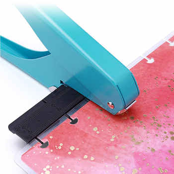Yiwi Mushroom Hole T-type Punchers Offices School Supplies DIY Paper Cutter Loose Leaf Scrapbooking Punchers Binding Hole Punch - DISCOUNT ITEM  9% OFF All Category