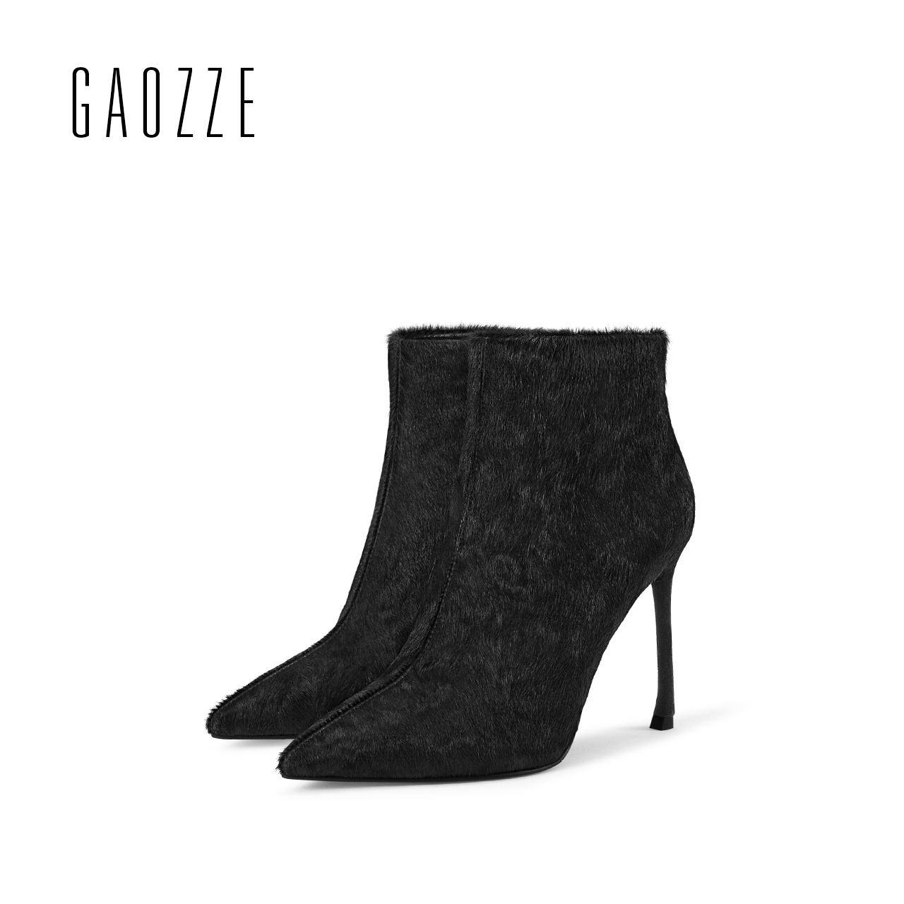 GAOZZE ankle boots for women pointed toe side zipper women boots Stiletto High Heel sexy Black ankle boots luxury2017 autumn new fashion pointed toe and stiletto heel design ankle boots for women