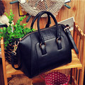 2017 new women retro crocodile pattern classic trapeze handbag metal ring woman shoulder hand bag crossbody message bags