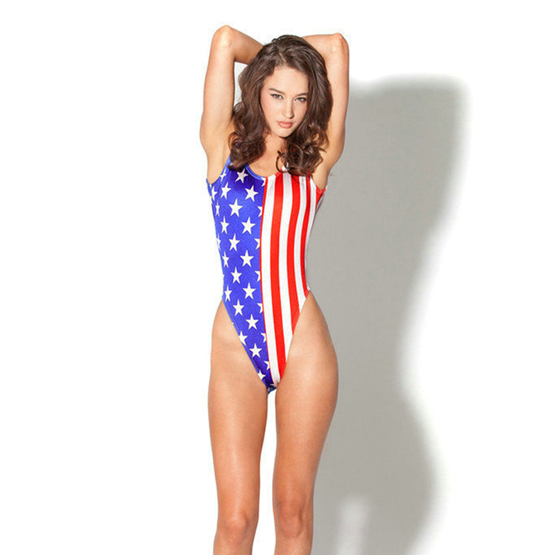 347de55ce1ed Printed American Flag Bikini Women s sexy bikini swimwear sexy bikini  Bikinis sets Bathing Suit Bra Swimsuit SW807 CGR1-in Body Suits from Sports  ...