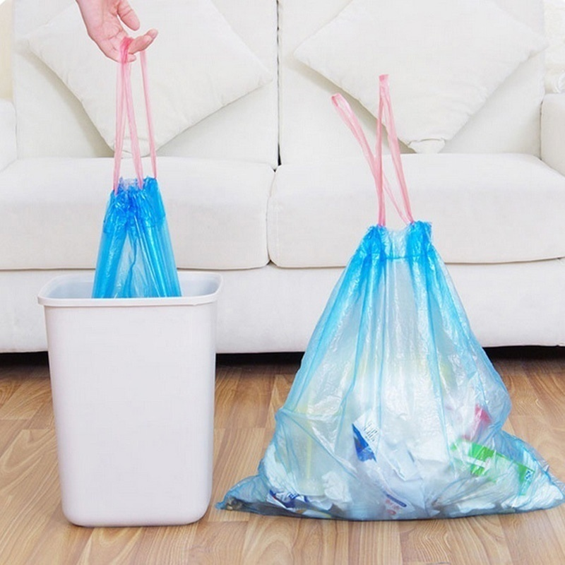 Plastic Trash Bag Strong Thick Large Size Disposable Garbage Bag Rubbish Bags Kitchen Household Cleaning Accessories PJJJRY411