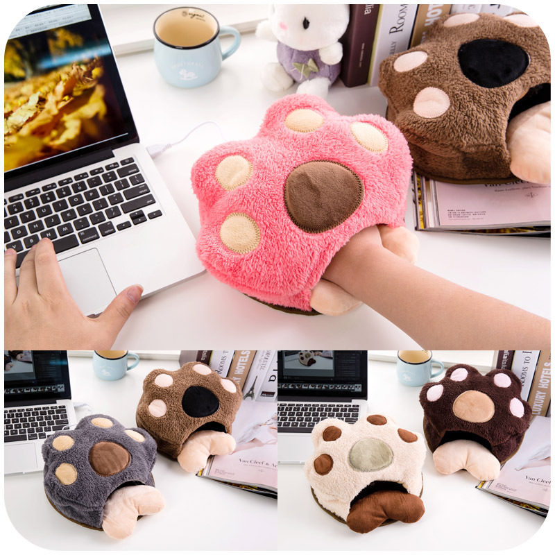 Cute paws warm in winter USB heated mouse pad with wrist hand warmers heating pad P2619