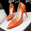 "2016 New Women Pumps Thin Heels Fashion Fine Heels Shallow Pointed Solid Color ""H"" Single Shoes Heeled Female Shoes Single Shoes"