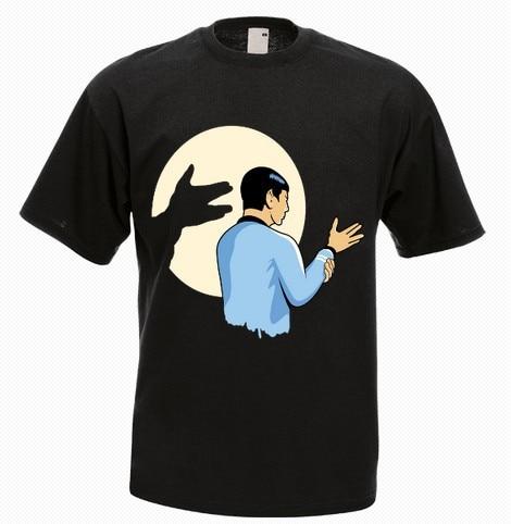 Spok star trek funny t shirt men 39 s 100 cotton personality for High quality custom shirts