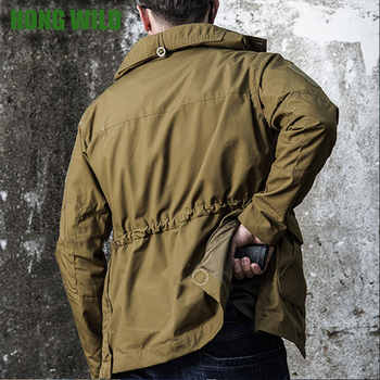 Brand Tactical Style Military Jacket Men Multi Pocket Zipper Long Sleeve Jackets Fitness Clothing Sportswear With Hat