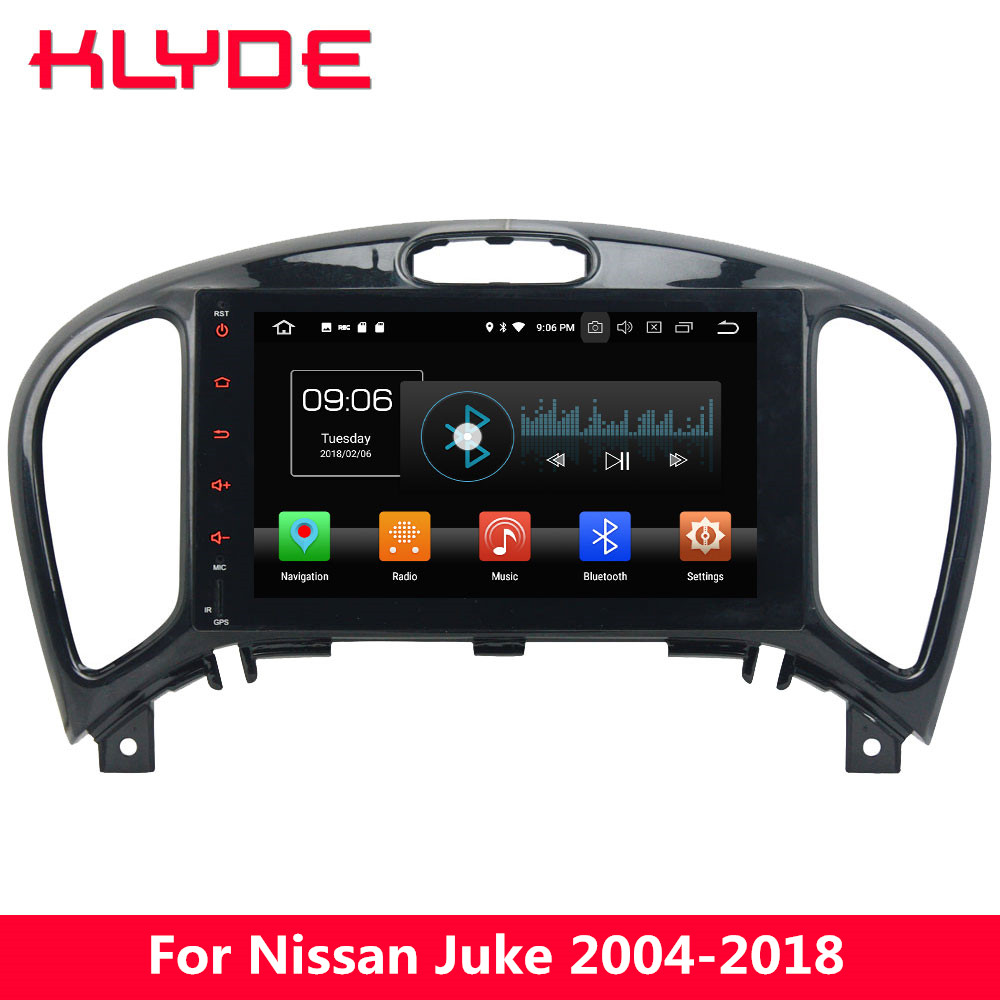 KLYDE 8 4G WIFI Android 8.0 Octa Core PX5 4GB RAM 32GB ROM BT Car DVD Multimedia Player Radio Stereo For Nissan Juke 2004-2018