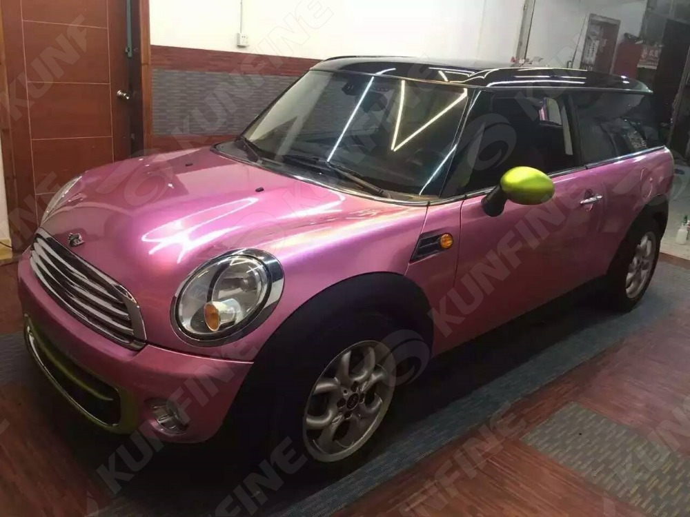 Car Styling Wrap Aurora Pink Vinyl Film Body Sticker With Air Free Bubble