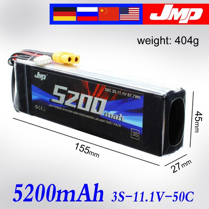 2 pcs 5200 mah 3 s 50C JMP Lipo Batterie Lipo 11.1 v 50C pour 1/10 Voiture 1/8 RC Voiture pour Traxxas TR-4 E-REVO XO-1 SLASH 1/7 ILLIMITÉ
