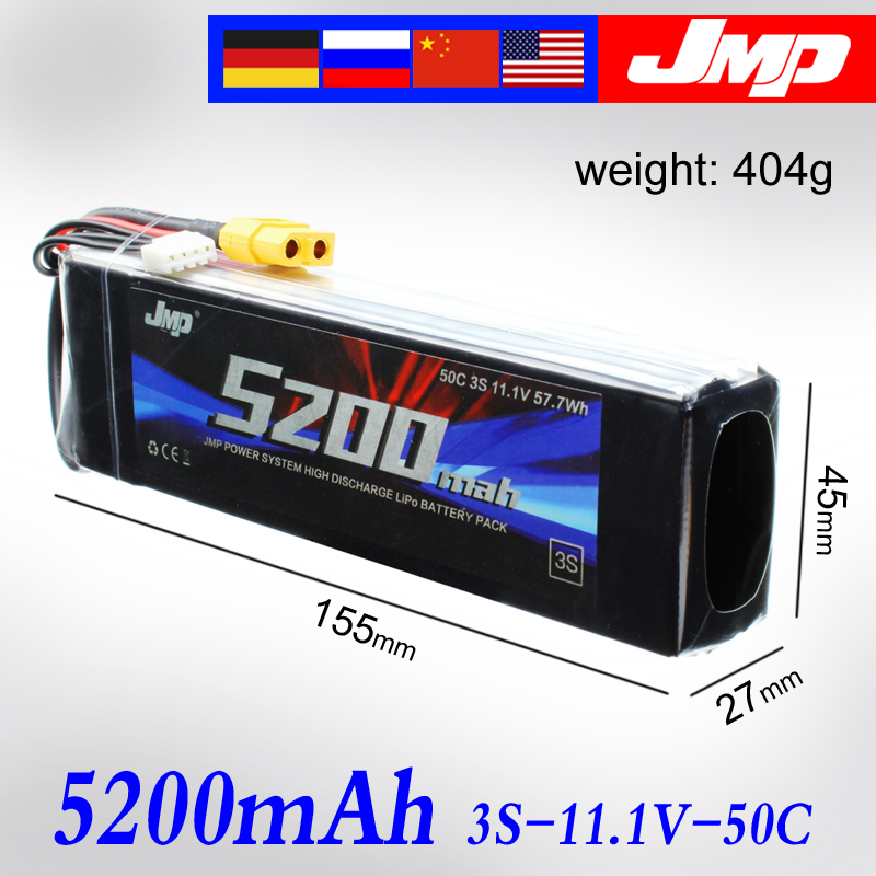 2pcs 5200mAh 3S 50C JMP Lipo Battery Lipo 11.1V 50C for 1/10 Car 1/8 RC Car for Traxxas TR-4 E-REVO XO-1 SLASH 1/7 UNLIMITED marshall mpm4e jmp 1 footswitch 4 way