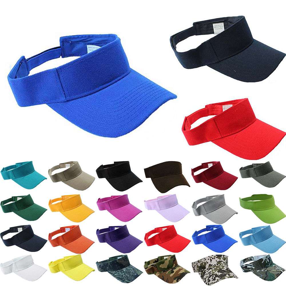 Visor Sun Plain Hat Sports Cap Colors Golf Tennis Beach New Adjustable Men  Women-in Sun Hats from Apparel Accessories on Aliexpress.com  b4e5e0e90a3