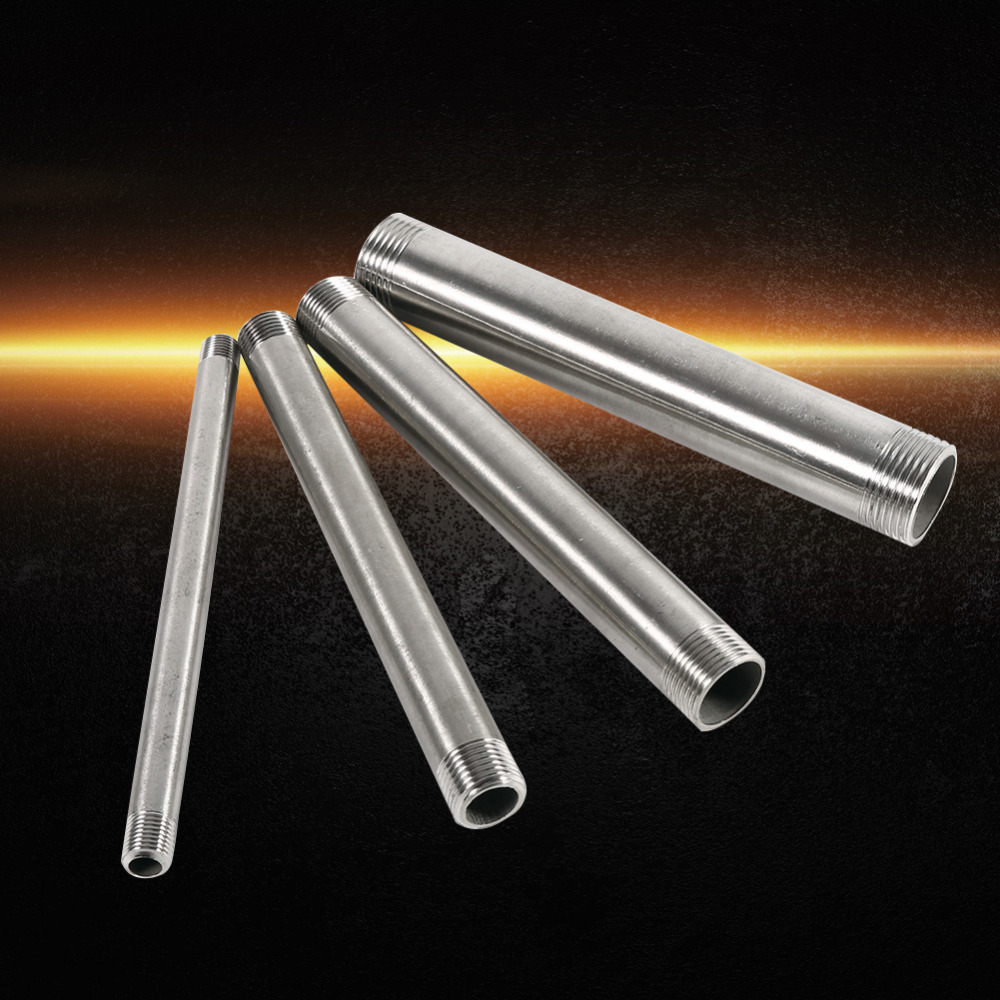 Different Sizes Male Thread Equal 200mm Extension Tube Pipe Fitting 304 Stainless Steel Connector steel casing pipe