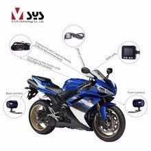VSYS C6 Dual Motorcycle Camera Recorder Video Registrator Waterproof Motorcycle DVR with GPS Tracker Helmet Dash