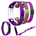 Pulseira 12mm pulseira strap substituição de alta qualty milanese laço magnético de aço inoxidável band para fitbit alta smart watch