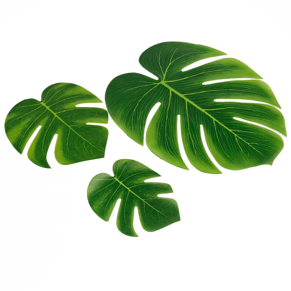 10pcs 12pcs Green Artificial Tropical Palm Leaves Hawaiian Luau Party Jungle Beach Theme Party Decoration Hawaii 4