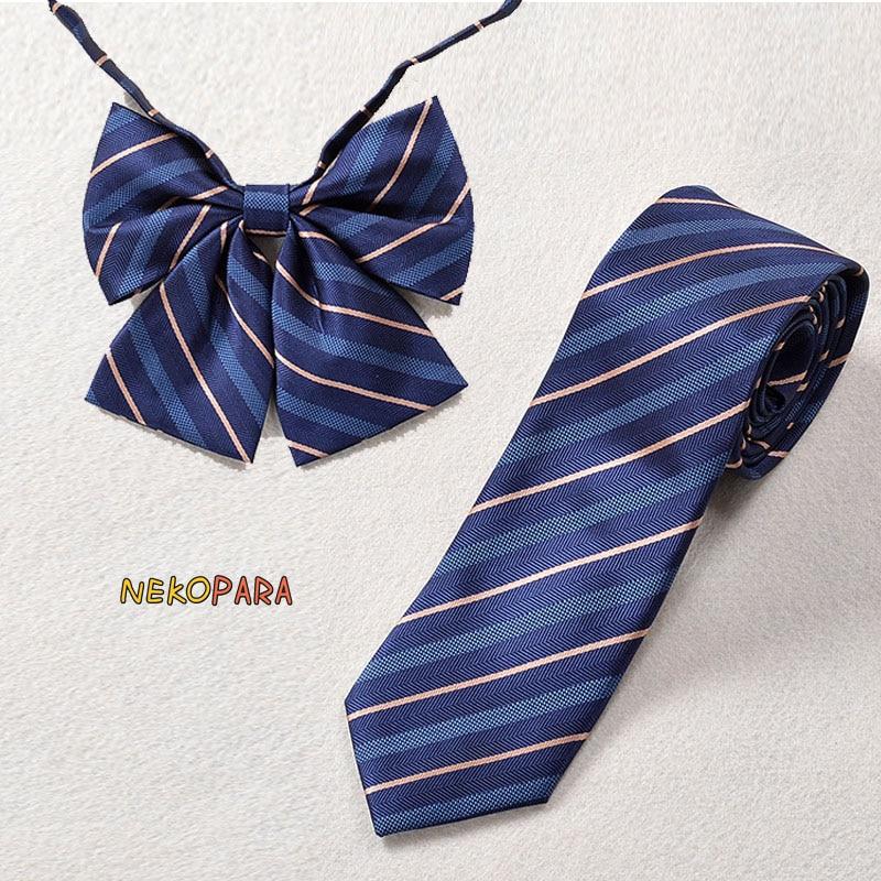 Bekleidung Zubehör Damen-accessoires Neue Gestreiften Fliege Klassischen Japanischen Schule Mädchen Jk Einheitliche Student Bowknot Jacquard Weben Krawatte Stickerei Elegant Im Stil