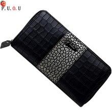New Hot Women Wallet Best Phone Long Zipper Wallet Large Capacity Crocodile Pattern Women's Wallet Clutch Bag Portefeuille Femme