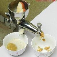Uso en el hogar exprimidor de acero inoxidable manual de la máquina jugo de hierba de trigo sano auger exprimidor lenta ZF