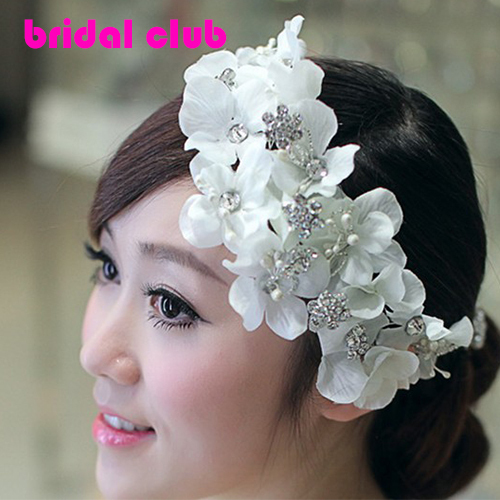 Elegance Handmade Floral Flowers Bridal Wedding Hair Jewelry Accessory Wedding Headpiece Headdress Tiara