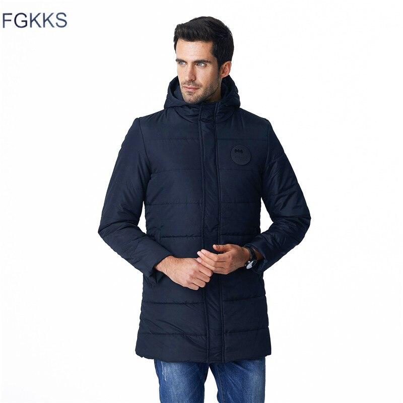 Fgkks одноцветное Для мужчин S парка Повседневное мужской Куртки Пальто для будущих мам толстые теплые Для мужчин зимняя верхняя одежда Топы к...