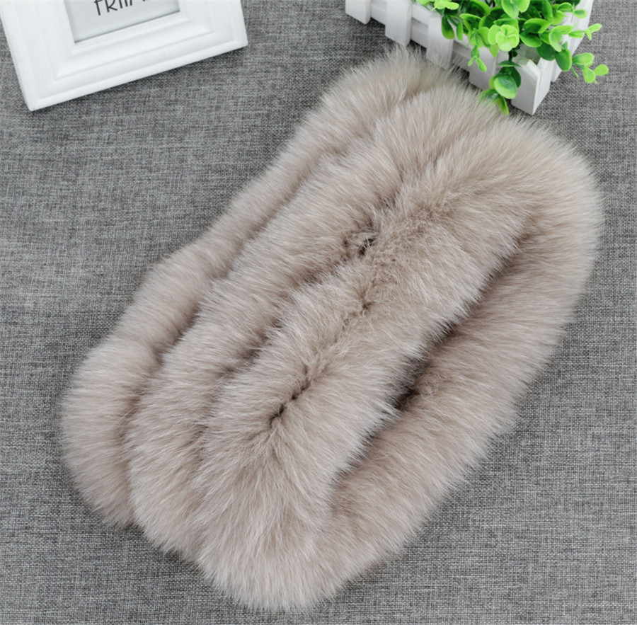 Fashion Womens Real Genuine Fox Fur Snood Neck Warmer Cowl Endless Scarf Scarve