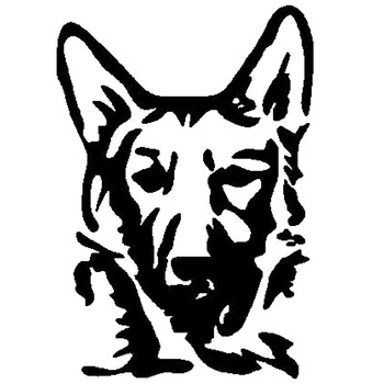 9.3*13.5CM German Shepard Dog Car Stickers Waterproof Vinyl Decal Car Styling Bumper Decoration Black/Silver S1-0530 image