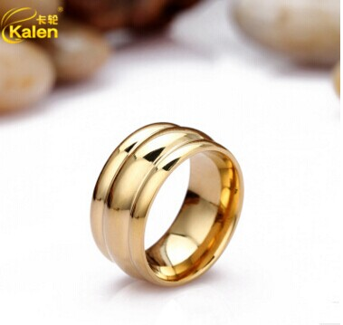 2017 kalen new cheap wedding engagement rings stainless steel indian gold color three circle rings women - Indian Wedding Rings