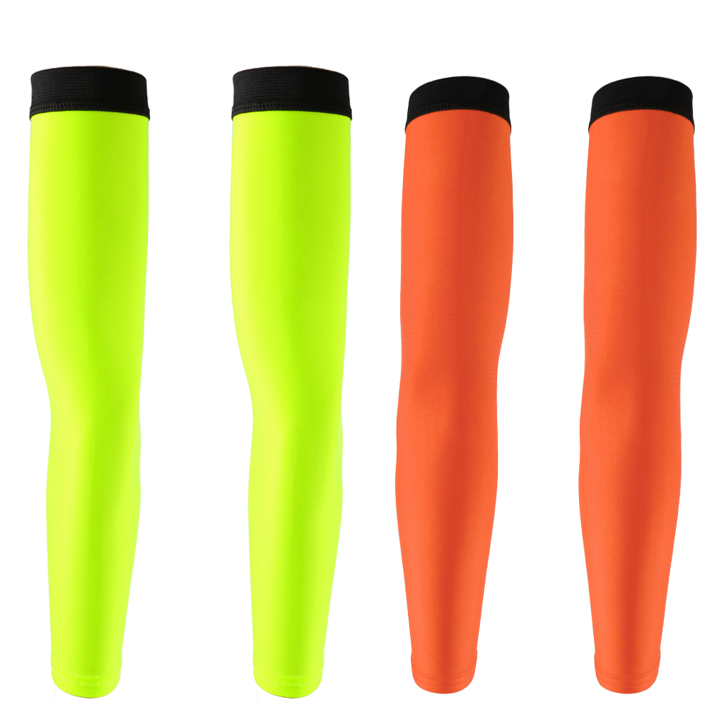 2Pairs UV Protection Cooling Arm Sleeves Breathable Arm Cover For Cycling Driving Running Basketball Football Outdoor Activities