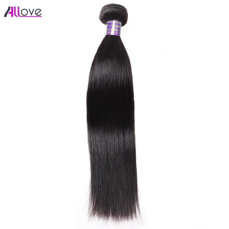 Nové brazilské rovné vlasové svazky ALLove vlasy 100% Remy - Lidské vlasy (pro černé)