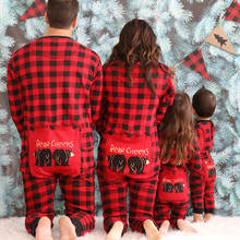 Christmas Family Pajamas Mother Father Kids Baby Plaid Print Sleepwear Cute  Bear Nightwear Family Matching Clothes 5afb4184b