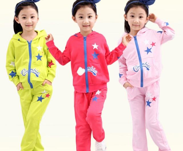 9afdd4b7c633a Enfants filles sport ensemble jogging veste + pantalon garçons vêtements  ensembles enfants à capuche sweat bébé