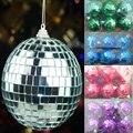6 cm decoración de bolas de navidad bola de Espejos reflectantes lente de Cristal bola de billar billar bola de destello de plata Púrpura rojo verde