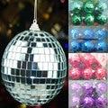 6cm snooker reflective decoration ball christmas ball Mirror Glass lens ball red green silver Purple snooker flash ball