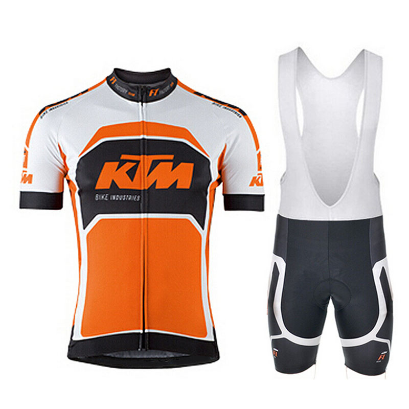KTM 2018 Cycling Sets Cycling Clothing Men Breathable Anti-UV Bicycle Wear Bike Clothing/Short Sleeve Cycling Jerseys Set 2016 new men s cycling jerseys top sleeve blue and white waves bicycle shirt white bike top breathable cycling top ilpaladin