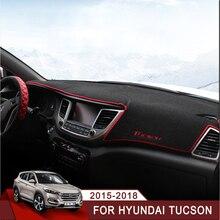 Car Dashboard Avoid Light Pad Instrument Platform Desk Cover Mat Carpets For Hyundai Tucson 2015 2016 2017 2018 LHD Accessory стоимость