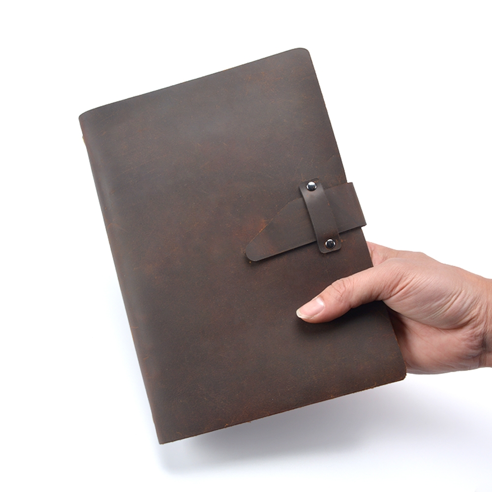 Cadernos planejador diário da folha solta Estilo : Couro Genuíno