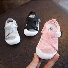 DIMI Летняя детская обувь для маленьких девочек и мальчиков; сандалии для малышей; Нескользящая дышащая мягкая детская обувь для предотвращения столкновений
