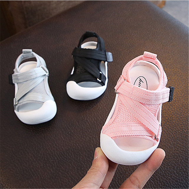 DIMI 2019 Summer Infant Toddler Shoes Baby Girls Boys Toddler Sandals Non-Slip Breathable Soft Kid Anti-collision Shoes