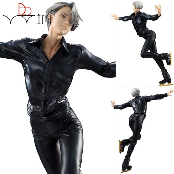 DOWIN ON ICE Action Figure Victor Nikiforov MH PVC Figure Toy YUR 23cm Anime Yuri On Ice Figurine Collection Model Toys рубашка mango mango ma002ewymn23